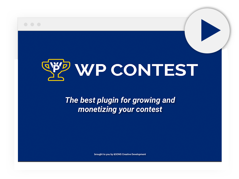 Watch a demo of the wordpress voting contest plugin